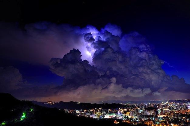 Magnificent cumulonimbus clouds